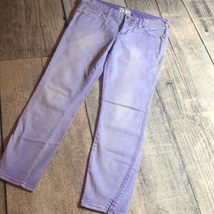 Free People purple lilac wash skinny ankle size 29